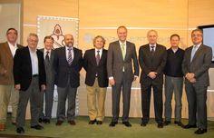 Presentacion de los Premios Moros d'Alqueria 2011, miembros de la junta de Moros, Manolo Martin director de la escuela de Hosteleria, concejales y el alcalde Alberto Fabra