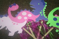 Girl's Dinosaur Party Table Decorations