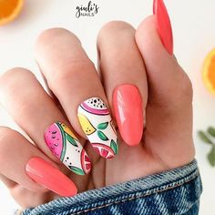 To help you achieve trendy summer nails, we have gathered all the chic shades that will determine this season. As the hot season approaches, summer nail designs are most in demand from day to day. Of course, the world of nail art is constantly changing and we know how difficult it is to follow all trends. For this reason, we have decided to make your life easier and have put together the best nail art designs.. #nail_design #nail_design_2020 #nagels_inspiratie_zomer… Best Nail Art Designs, Acrylic Nail Designs, Acrylic Nails, Beauty Tutorials, Beauty Hacks, Hair Health And Beauty, Nagel Hacks, Nailart, Perfect Makeup