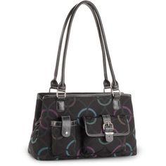 George Women's Jacquard Satchel Bag, Multicolor