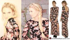 Buy Jennifer Morrison's Beauty Coach Floral Print Maxi Dress, here!
