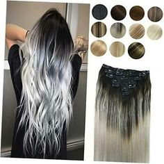 Silver Hair Extensions, Hair Extensions For Sale, Clip In Hair Extensions, Natural Hair Styles, Long Hair Styles, Full Hair, Balayage Highlights, Hair Transformation, Gorgeous Hair