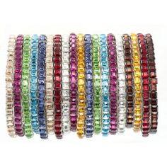Bonjoc Swarovski Crystal Stretch Golf Bracelets 2 Get 1 Free Tournament Gifts