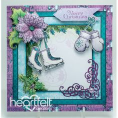 Heartfelt Creations - Ice Skates And Mittens Project