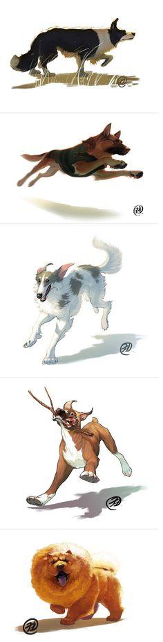 Daily Dog - illustration book - Crowdfunding project for Elisa Kwon on Catarse #crowdfunding #Catarse #kickstarter #illustration #dogs #cats #animal #pet #marker #copic #Elisa_Kwon