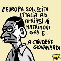 #IoSeguoItalianComics #Satira #Politica #Europa #unionigay #Giovanardi #societa