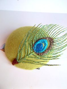 Peacock Cocktail Hat by ChefBizzaro on Etsy, $55.00