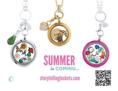 Spring?.....I'm excited for Summer!  Bring it on! I love all the new options Origami Owl has to offer. Especially the new Living lockets.