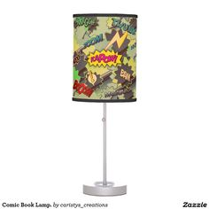 Illuminate your home with Kids lamps from Zazzle. Choose from our pendant, tripod or table lamps. Find the right lamp for you today! Lamp Table, Kid Table, Book Lamp, Kids Lamps, Kids Rooms, Pendant Lamp, Comic Books, Comics, Lighting