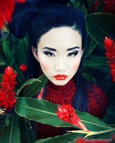 Asian Lady w/ Reds & Greens