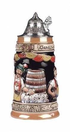 German Beer Mug, German Beer Steins, Personalized Beer Mugs, Clock Shop, City Scene, Pottery, Celebrations, Culture, Oktoberfest