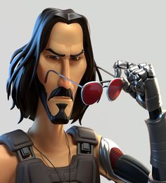 By Community hosted by Use or support us on Patreon to get a feature Keanu Reeves - Cyberpunk Cyberpunk 2077, Cyberpunk Games, Keanu Reeves, Zbrush, 3d Model Character, Character Concept, Character Design, Cd Project Red, John Wick Movie