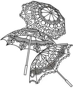 Embroidery Designs at Urban Threads - Delicate Parasols*Steampunk Coloring Pages for Adults - Bing ImagesWhy let the kiddos have all the fun? Find your inner artist with this collection of FREE adult coloring pages. 101 fun choices, you can color you Coloring Book Pages, Coloring Sheets, Printable Coloring Pages, Buch Design, Parchment Craft, Digi Stamps, Embroidery Patterns, Paper Embroidery, Doodles