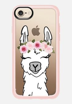 Floral Crown Llama Phone Case #iphone8case,