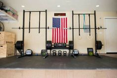 Page 9 of my inspirational Garage Gyms image gallery. Browse away and get some ideas for your own home gym. Go ahead and share these images and pin away. Another His and Hers CrossFit garage gym Crossfit Garage Gym, Home Gym Garage, Crossfit At Home, Garage House, At Home Gym, Dream Garage, Dream Gym, Gym Images, Rogue Fitness