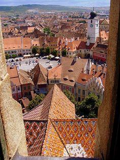 (via Little Plaza Sibiu, a photo from Sibiu, West | TrekEarth)  Sibiu, Romania