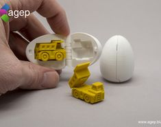 Surprise Egg - Tiny Haul Truck by agepbiz. 3d Printing Machine, Phonics Games, Fire Trucks, All In One, Stocking Stuffers, 3d Printer, Eggs, Prints, Fork Lift