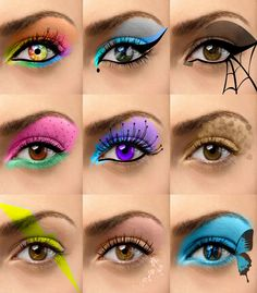 cool eyeshadow designs | Emo Eye Makeup Designs Applying cool eye makeup