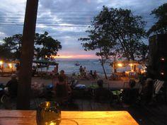 Koki Beach view while eating in Puerto Viejo