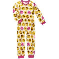 Emoji Girls' Licensed 1-Pc Sleeper, Size: 10/12, White