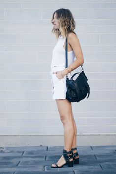 all white outfit, proenza schouler bag, isabel marant sandals // the august diaries