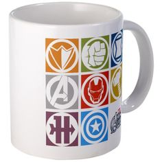 Avengers Squares Mug...I really want this for my bday!