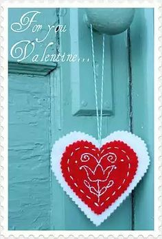 Amy Gibson  Valentine's Day embroidered heart
