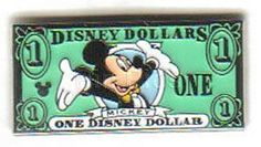 Disney Dollars Collectors Pins