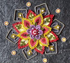 Paper Quilled Flower Design Home Decor by PrachisHastkala on Etsy, $19.00