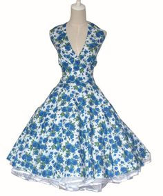 50s Pinup Vintage Rockabilly Floral Prom Swing Dress | eBay