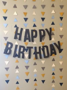Rustic Paper Airplane Party - Gather and Flourish Diy Birthday Backdrop, Simple Birthday Decorations, Diy Birthday Banner, Happy Birthday Banners, Diy Party Decorations, Card Birthday, Decoration Ideas For Birthday, Printable Birthday Banner, Paper Decorations