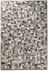 Teppich Quarter, graues Rindsleder 200x300 €1.895,-