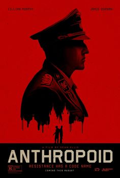 Anthropoid Poster - WWII drama about the Czech operative mission to assassinate SS Officer Heydrich - tragic, sad story but one that all history buffs should see.