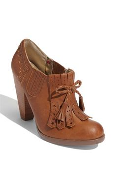"$129.95 Seychelles ""Clue"" Bootie. I want to Katherine Hepburn these up with high waist trousers and a flowy blouse of some sort. Yum."