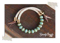 DIY Mint and Cream Wrap Bracelet Tutorial on the GoodyBeads.com Blog. Instructions on how to insert the memory wire and finish the ends of the bracelet.: