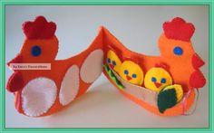 Quiet Book Preschool HEN Felt Book Counting Hen Book by WinterEma