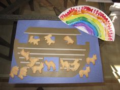 noahs ark... construction paper and animal crackers