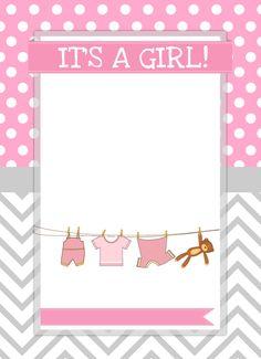 baby girl shower invite blank