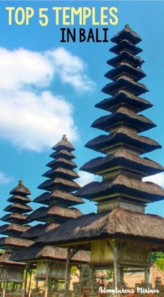 A trip to Bali is not really complete without visiting at least one temple. The island has over 20,000 temples and even though it's impossible to visit them all, a few of them are really worth the time and effort. These are the top 5 temples you must see during your visit to Bali.