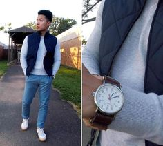 It's time for pencils, books and teacher's dirty looks. Here are some back to school outfits for men to help inspire your casual style this fall. Fall Fashion Outfits, Mens Fashion, Fashion Ideas, Fashion Trends, Vest Outfits, Casual Outfits, Mens Fall, Fashion Essentials, Style Essentials