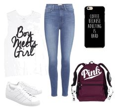 """""""Boy meets girl💞"""" by mtsr-tete ❤ liked on Polyvore featuring beauty, Paige Denim and adidas Originals"""