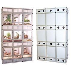 This elegant European design is being offered at half the price of comparable units. For the serious hobbyist and breeder or for retail store displays. Reptile House, Reptile Habitat, Reptile Room, Reptile Cage, Reptile Enclosure, Reptile Store, Turtle Enclosure, Terrariums Diy, Terrarium Reptile