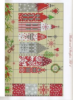 Christmas Houses- Pattern 2