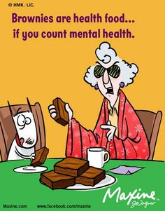Brownies are health food! | Maxine comic for 2015-03-04