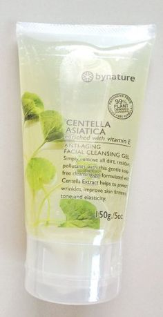 Centella Asiatica Facial Cleaning Gel 150grams Parabens Free, Soap free fomula,99% Plant Derived Ingredients Enriched with Vitamin E Anti-Aging by By Nature. $18.00. Centella Asiatica Facial Cleaning Gel 150grams Simply remove all dirt,residue,pollutants with this gentle soap free cleansing gel fomulated with Centella Extract helps to prevent wrinkles,improve skin firmness tone and elasticity. Ingredients: Centella Ext, Sodium Cocoyl Isethionate, Glycerin, Vitamin E