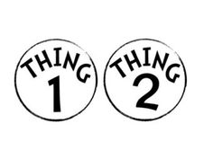 Dr Seuss Coloring Pages Thing 1 And Thing 2   Clipart Panda - Free ...  NOAH- THING 1 PARKER- THING 2