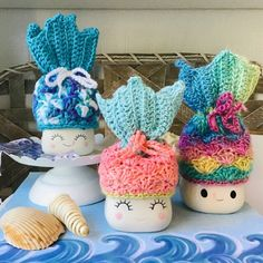 From StitchesByTrudyAU on Etsy: Handmade eco friendly reusables made from textile waste Diy Crochet, Crochet Toys, Crochet Projects, Craft Projects, Craft Ideas, Mallow Cups, Cute Marshmallows, Block Craft, Crochet Dishcloths