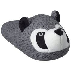 Women's Carol Racoon Slipper - Gray ($17) ❤ liked on Polyvore
