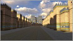Reconstruction of the ancient city of Babylon was created by me between March and May of 2013 for the Mesopotamia exhibition of the Royal Ontario Museum. Procession Street, Babylon