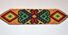 off loom beading techniques Beaded Bracelet Patterns, Jewelry Patterns, Beading Patterns, Beaded Jewelry, Beaded Bracelets, Beading Ideas, Jewellery, Beading Techniques, Native American Beading